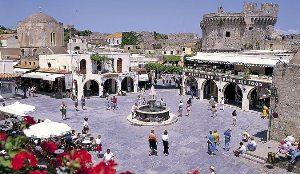 Centre ville Rhodes Grèce