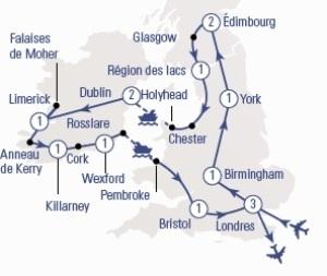 Carte Angleterre Ecosse.Angleterre Ecosse Irlande 16 Jours Capvoyages
