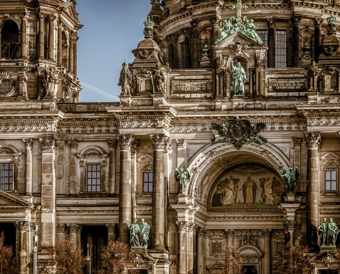 Berlin façade de la cathédrale Allemagne Europe Voyage