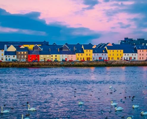 Maisons colorées de Galway Irlande Europe Voyage