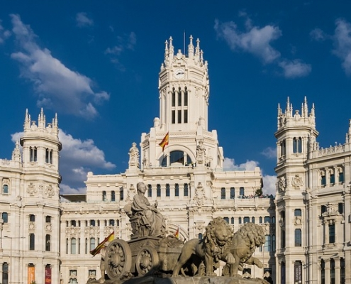 Madrid Place Cibeles Espagne Europe Voyage