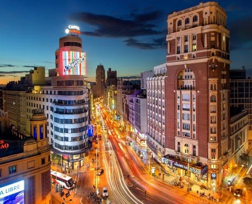 Madrid nuit espagne Europe Voyage