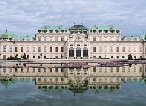 Château baroque Vienne Europe Voyage