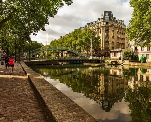 Canal St Martin Paris France Europe Voyage