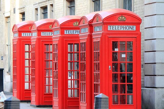 Cabines téléphoniques Londres Europe Voyage