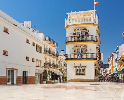 Place centrale de Torremolinos Espagne Europe Voyage