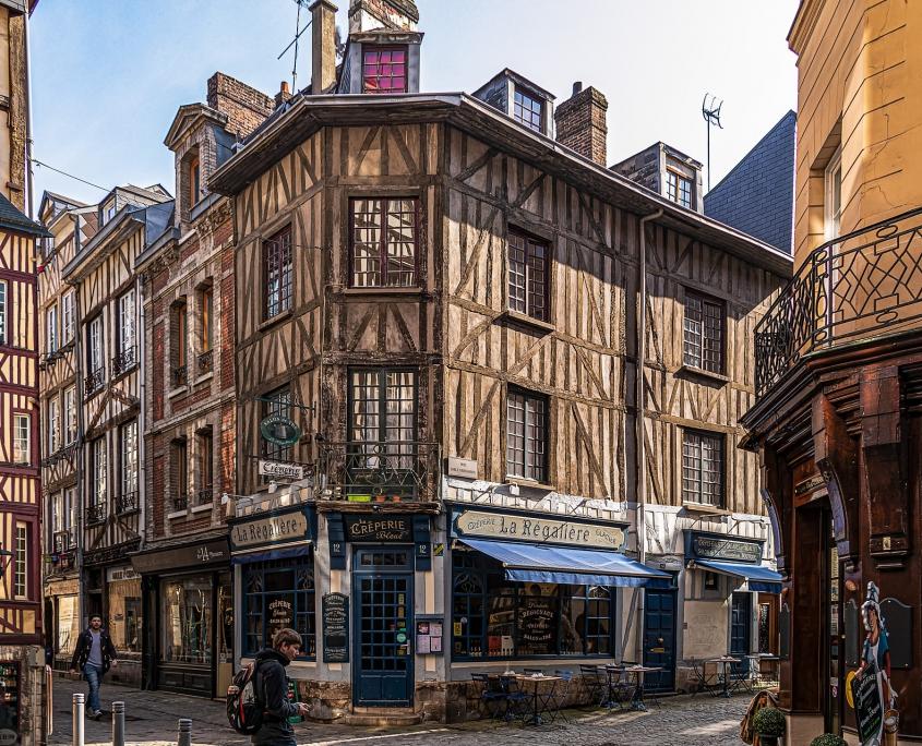 Maisons typiques de Rouen Normandie France Europe Voyage