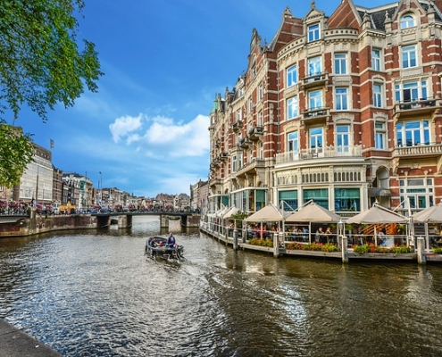 Canal Amsterdam Pays-Bas Europe Voyage
