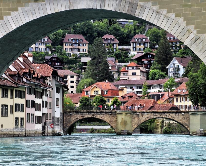 Berne ponds Suisse Voyage