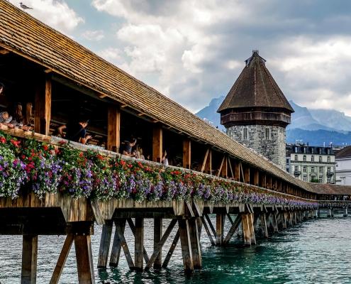 Pont de la Chapelle Lucerne Suisse Voyage Europe
