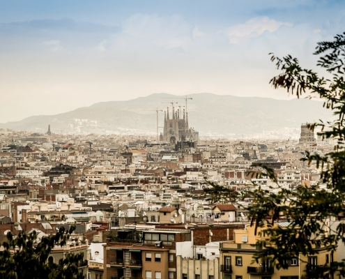 Panorama Barcelone Espagne Europe Voyage