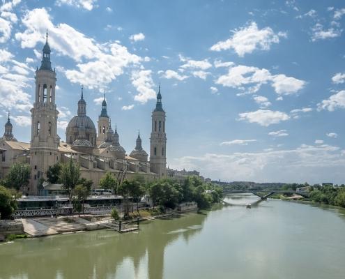 Basilique de Nuestra Señora del Pilar Saragosse Espagne Europe Voyage