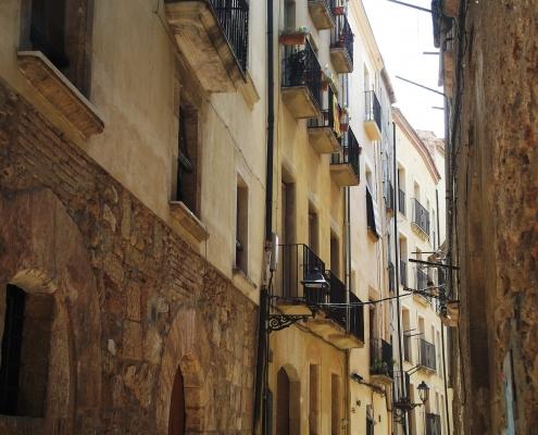 Rue Tarragone Espagne Europe Voyage
