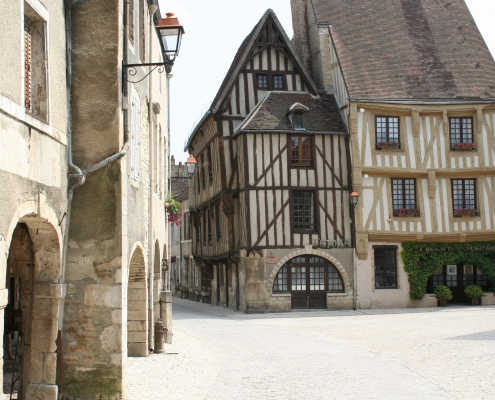 Rue typique Troyes France Voyages
