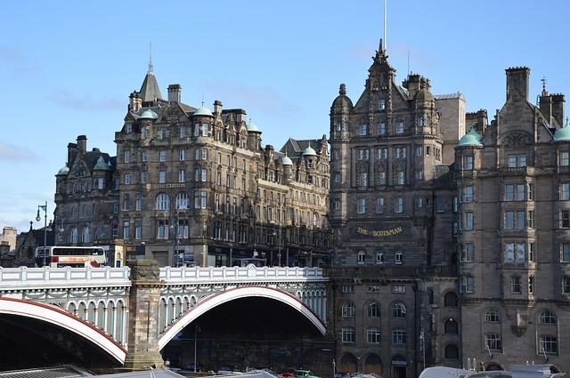 Édimbourg centre historique Ecoose Europe Voyage