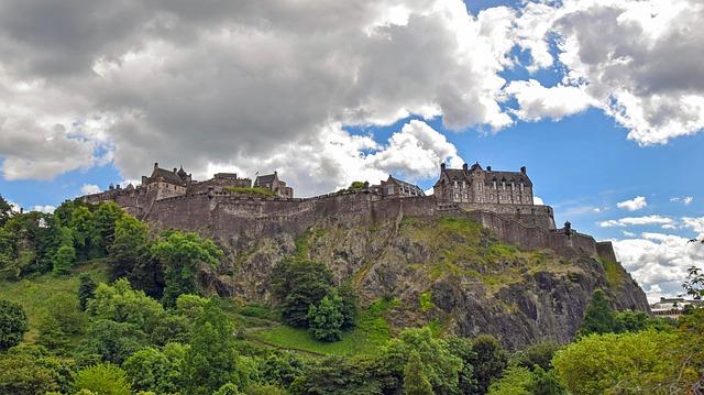 Edimbourg château Écosse Europe Voyage