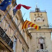 Aix en provence place de la mairie France Europe Voyage
