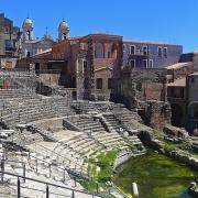 Théâtre Romain à Catane Sicile Europe Voyage