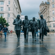 Liverpool Statues Beatles Angleterre Europe Voyage