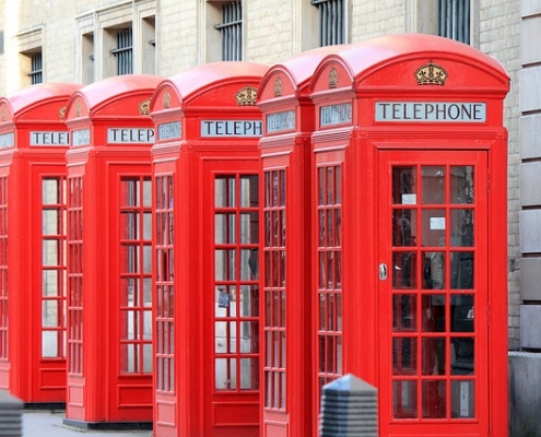 Londres cabines telephoniques Angleterre Voyage