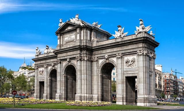 Porte Alcala Madrid Espagne Europe Voyage