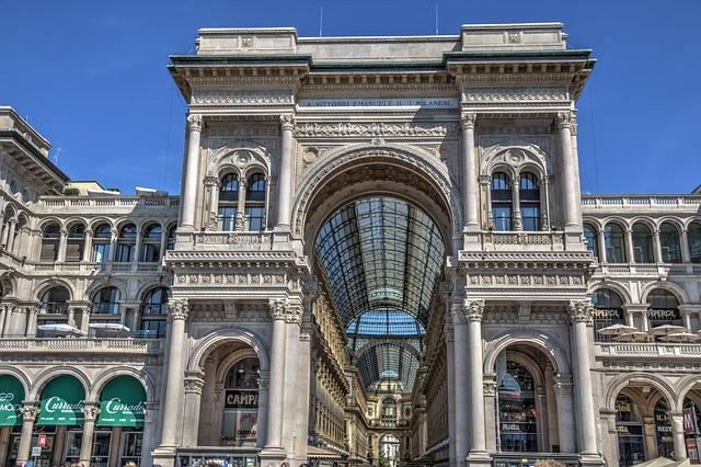 Milan Galleria Vittorio Emanuele Italie Voyage