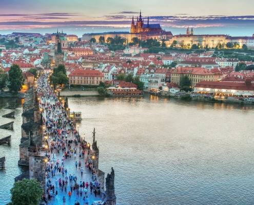 Pont Prague République Tchèque Voyage