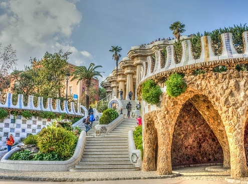 Parc Guell Barcelone Espagne Europe Voyage