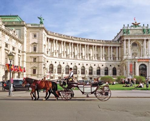 Vienne place Hofburg Autriche Europe Voyage