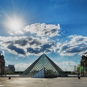 Pyramide du Louvre Paris France Europe Voyage