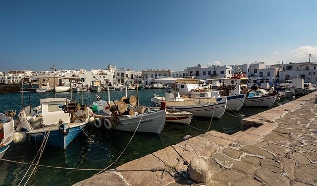 Port de Paros Grèce Europe Voyage