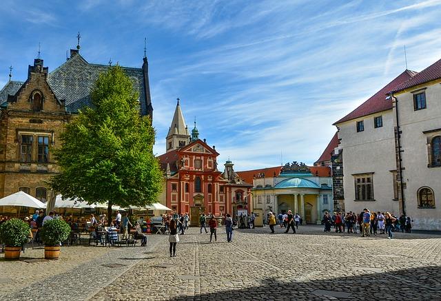 Prague place de château République Tchèque Europe Voyage