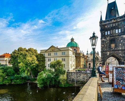 Prague pont Charles République Tchèque Europe Voyage