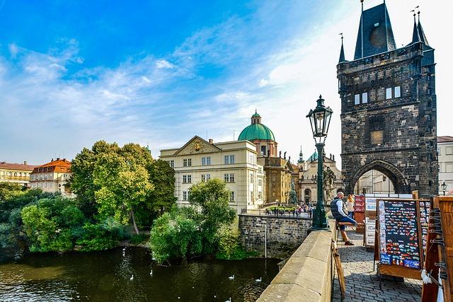 Prague Pont Charles République Tchèque Voyage