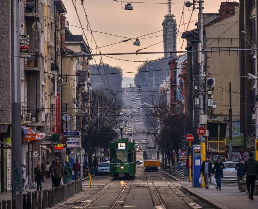 Sofia tramway Roumanie Europe Voyage