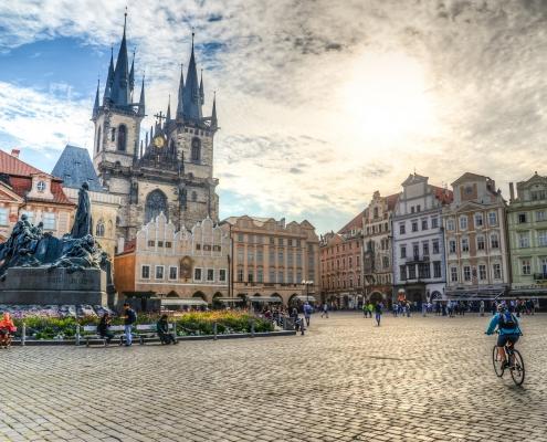 centre ville de Prague République Tchèque Voyage