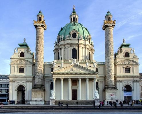 Vienne eglise st charles Autriche Europe Voyage