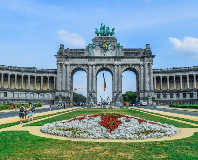 Place du Cinquantenaire Bruxelles Belgique Voyage