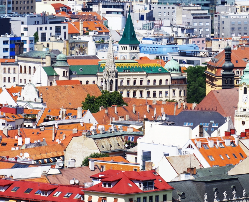 toits Bratislava Slovaquie Europe Voyage