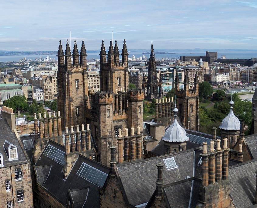 Château Edimbourg Écosse Europe Voyage