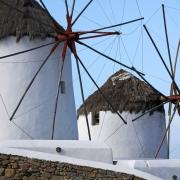 Moulins à vent Mykonos Grèce Europe Voyage