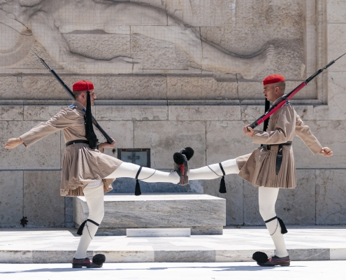 Les Evzones Athènes Grèce Europe Voyage