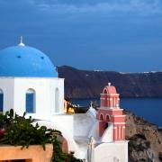 Toit bleu de Santorin Grèce Europe Voyage