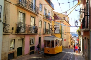 Lisbonne Tramway Portugal Europe Voyage