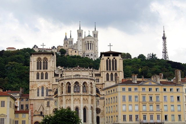 Cathédrale Lyon France Europe Voyage