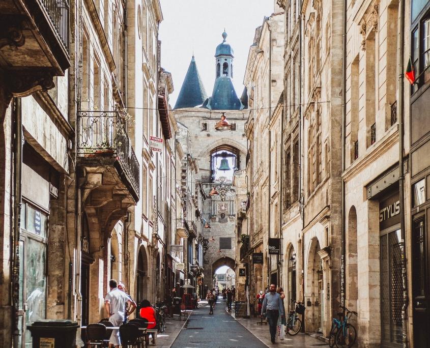 Rue Bordeaux France Europe Voyage
