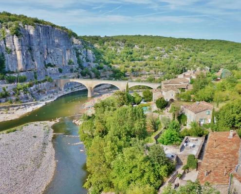 Pont de Balazuc Ardéche France Europe