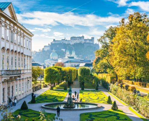 Jardin de Mirabell Salzbourg Autriche Voyage