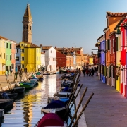 Burano, Venise Italie Europe Voyage