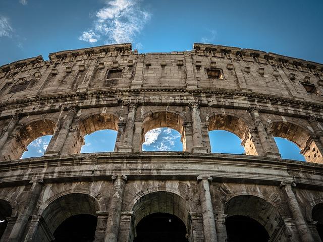 Le Colisée Rome Italie Europe Voyage